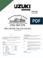 Suzuki Outboard Engine DT-40 Parts Catalogue