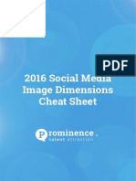 2016 Social Media Image Dimensions Cheat Sheet