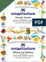 kindergarten diploma tajalle 2016