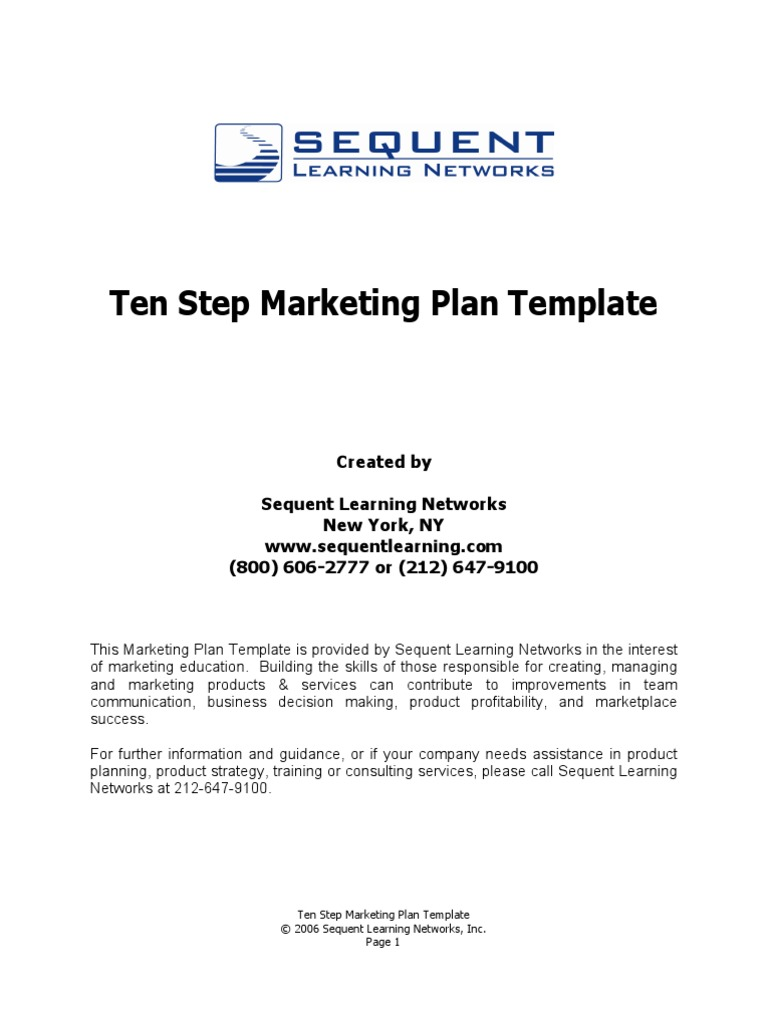 The 10 step marketing plan template swot analysis strategic the 10 step marketing plan template swot analysis strategic management flashek Image collections