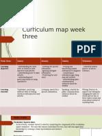 week three curriculum map