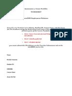 career portfolio worksheet handout