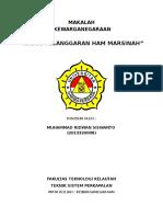 Makalah Kasus Pelanggaran Ham Marsinah (Kewarganegaraan) Universitas dharma Persada By Ridwan