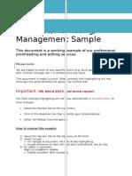 Business, Management & Marketing Sample