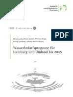 Wasserbedarfsprognose für  Hamburg und Umland bis 2045