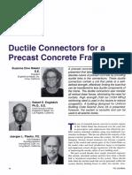 Ductile Connectors for a Precast Concrete Frame