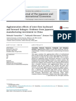 Agglomeration Effects of Inter-firm Backward