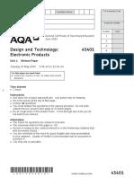 AQA Electronic Products Q.P - 2015