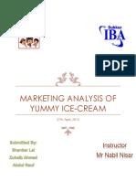 Marketing Analysis of YUMMY Ice Cream