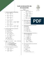 Auto Evaluación de Ecuaciones MCS I