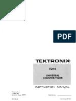 7D15-Service Tektronix Universal Counteur-timer