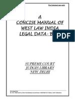 Westlaw India Manual