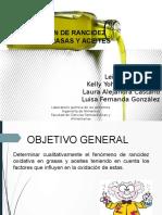 Rancidez Oxidativa en Grasas y Aceites - Lab. Quimica de Alimentos