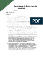 Lógica y Estructura de La Sentencia Judicial