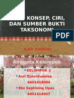 Ciri Dan Sumber Bukti Taksonomi Kelompok 2