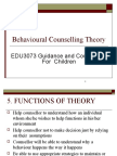 Topic 4.1 Behavioural Counselling Theory