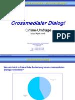 Crossmedialer Dialog