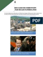MAYORES CASOS DE CORRUPCIÓN EN COLOMBIA