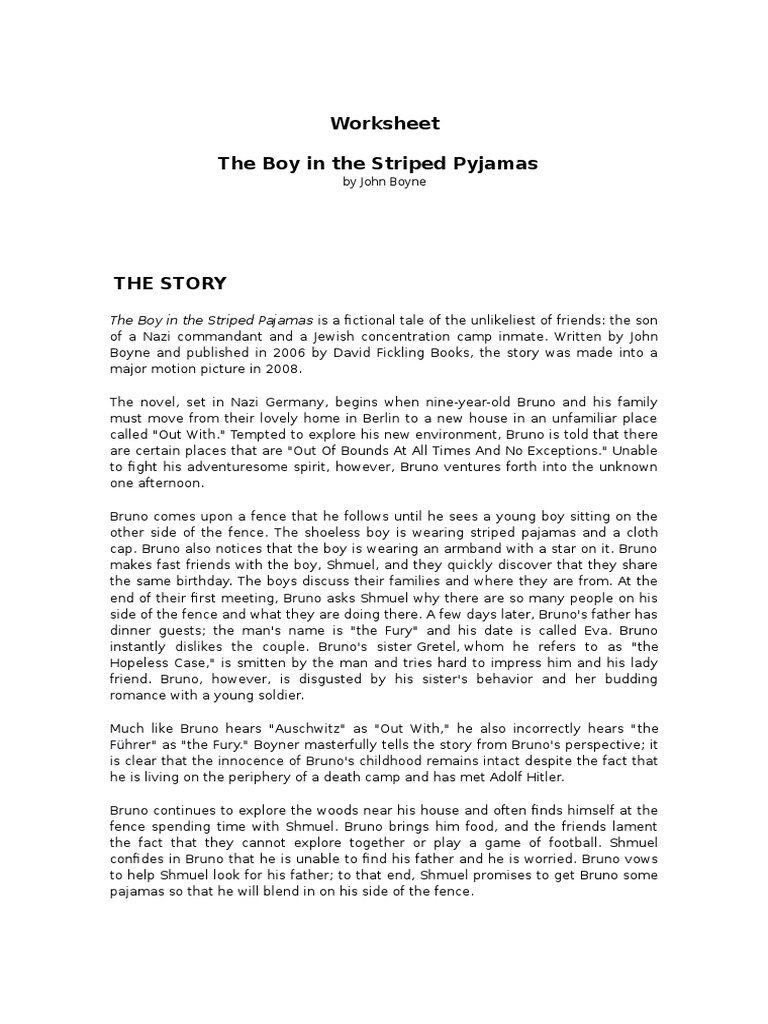 The Boy in the Striped Pajamas (character analysis & movie ...