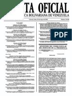 Sumario Gaceta Oficial 39.420