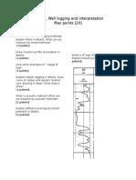 Exam 1_well Logging