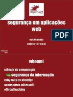Segurança Em Aplicações Web