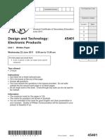 Question Paper 2011