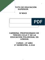 Cartilla Inglés Ies 2016