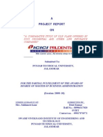 """A COMPARATIVE STUDY OF ULIP PLANS OFFERED BY ICICI PRUDENTIAL AND OTHER LIFE INSURANCE COMPANIES"""""""