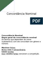 Concordância Nominal-SLIDES SENAC