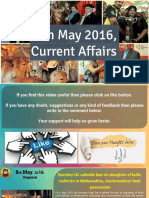 8 May 2016 Current Affair for Competition Exams