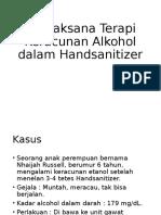 Tatalaksana Terapi Keracunan Alkohol Dalam Handsanitizer