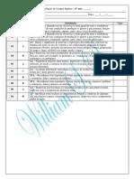 Avaliação Diagnóstica - 6º Ano 2015