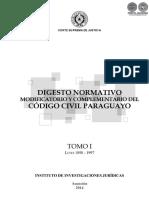 Digesto Normativo Codigo Civil Paraguayo - Tomo I - Leyes 1898 a 1997 - Portalguarani