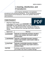 UL Toshiba Guidelines, For Cleaning, Disinfection, And Sterilization of Transducers