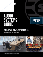 Audio Systems Guide to Meetings and Conferences