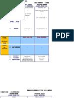 Exam Schedule 2S Midterm 2015-2016