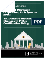 Survey of Mortgage Originators, First Quarter 2016