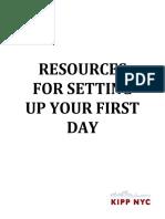 Setting Up Class for Success - Resources - Buckner-Ruiz