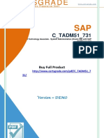 CertsGrade C_TADM51_731 Latest Questions & Answers