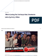 'Who's Loving You' de Auryn Feat
