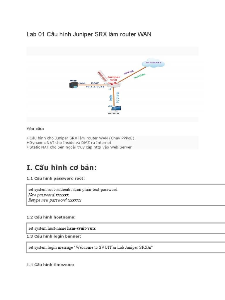 Cau Hinh Juniper Firewall WebManagerment