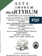 T. Ruinart_Acta martyrum sincera, Amsterdam 1713