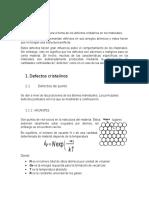 defectos cristalinos sintesis