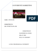 Term Paper of Srvice(Axix Bank)