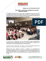 2016-05-08 Matamoros Tendrá Todo El Apoyo Del Gobierno Del Estado Enrique Serrano
