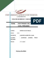 Monografia Doctrinas Del Código Civil Peruano Seccion Tercera