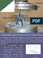 Geomecanica II - Esfuerzo y Resistencia Al Corte de Taludes