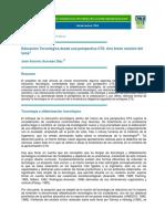 Acevedo Díaz José Antonio. Educación Tecnológica Desde Una Perspectiva CTS. Una Breve Revisión Del Tema