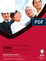 CIMA P1 Performance Operations Study Text 2013